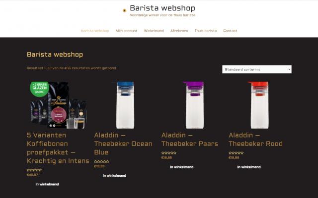 Project Barista Webshop